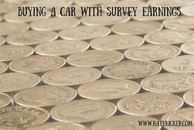 Buying a car with survey earnings
