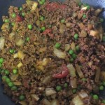Slow cooker beef keema the finished dish