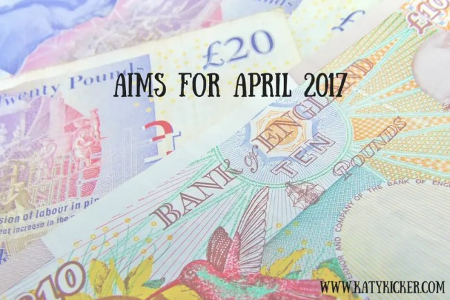Find out more about my Aims for April 2017