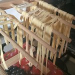My fresh pasta recipe - A look at the tagliatelle on my drying rack
