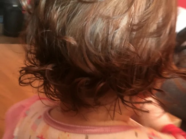 Daisy is 15 months old - Daisy's hair is beginning to curl now