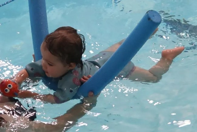 Daisy is 17 months old - Swimming