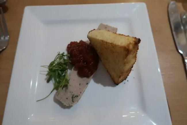 La Brasserie - Starter Confit Chicken & Tarragon Terrine