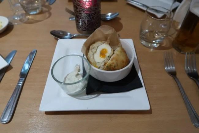 La Brasserie - Starter Smoked Haddock Scotch Egg
