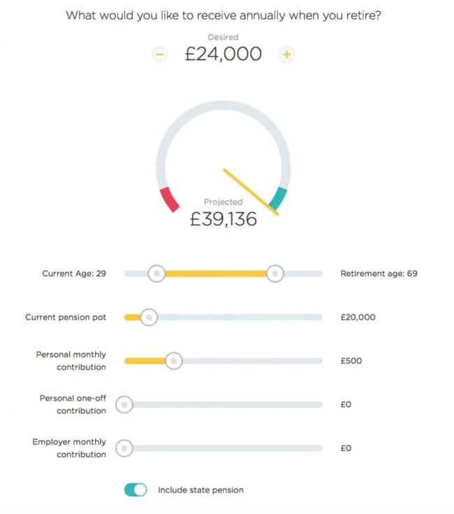 PensionBee Pension Calculator - Calculation 2