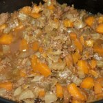 Slow cooker cottage pie filling - a look at the cooked filling