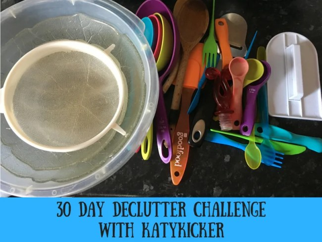 30 day declutter challenge with Katykicker.