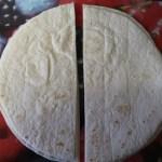 Chicken fajita triangles - Tortillas