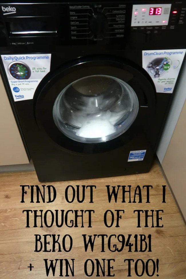 (AD) Find out what I thought of the Beko WTG941B1 and win one for yourself too!