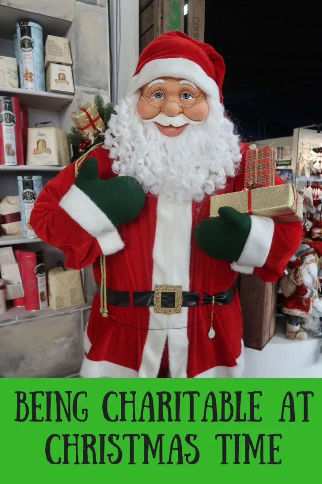 Find out more about being charitable at Christmas time. Read what I'm doing to be charitable and how I'm helping others this Christmas