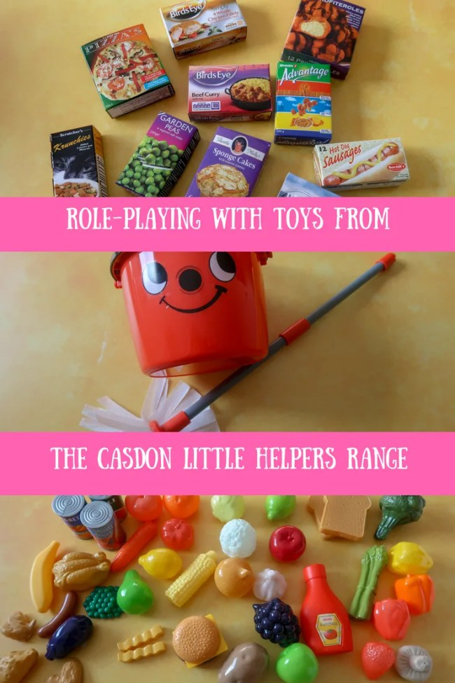 (AD) Playing with toys from the Casdon Little Helpers range. Casdon shopping trolley, Casdon play food and the Casdon Henry mop & bucket. #toys #roleplay #fun #children