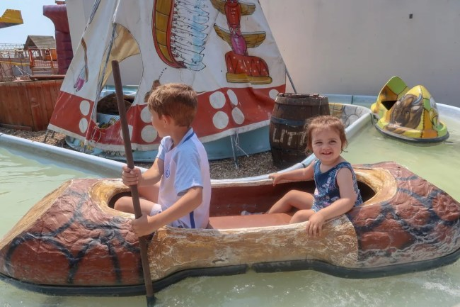A trip to Clacton-On-Sea - Daisy and Eddie in a boat