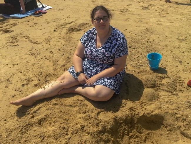 A trip to Clacton-On-Sea - Katy on the beach
