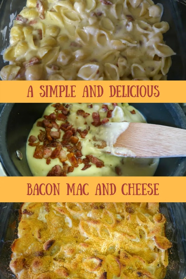 Delicious bacon mac and cheese - a rich, indulgent recipe that is cheap to make and tastes fantastic. #bacon #cheese #macandcheese #pastarecipes #macaronicheese