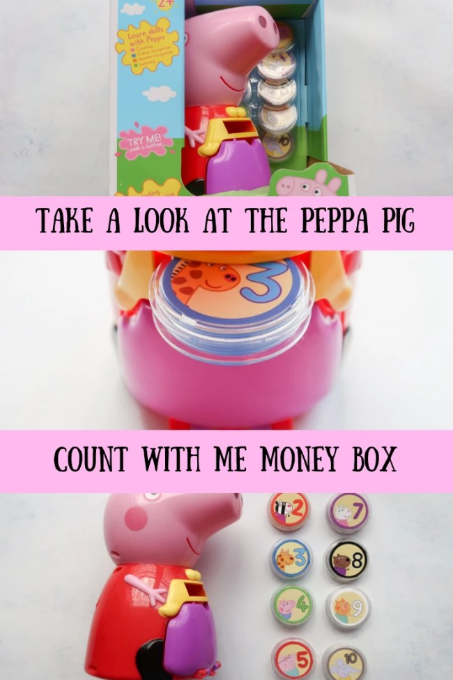 (AD) We've been practicing counting, number recognition and colour recognition with the Peppa Pig Count with Peppa Interactive Money Box #toys #family #parenting #fun #peppapig