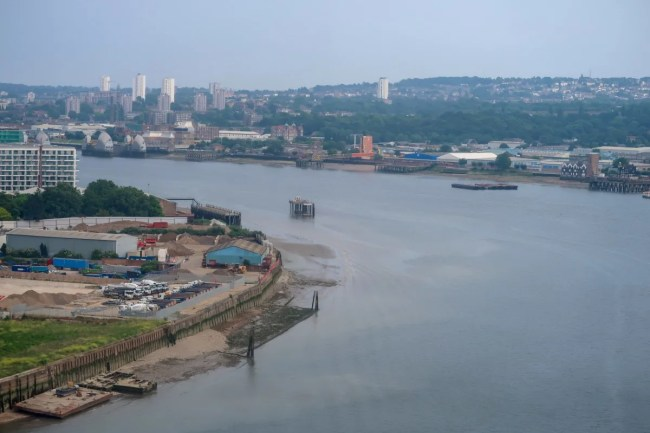 A look at the view from the emirates airline cable car
