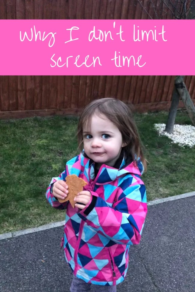 Why I don't limit screen time #parenting #screentime #tablets #toddlers #childhood #technology