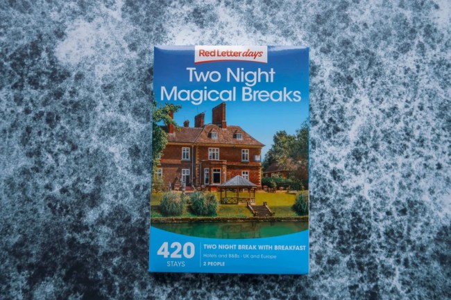 Valentine's Day Gift Guide for 2019 - Red Letter Days Two Night Magical Breaks