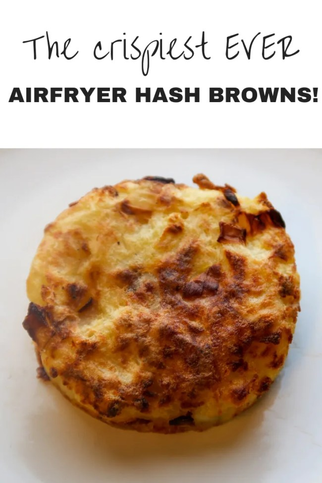 Want to make the crispiest EVER airfryer roast potatoes? #Brinner #Breakfast #HashBrowns #AirFryer #PotatoRecipes