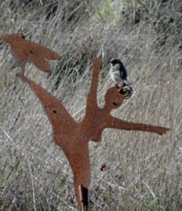 Dancing woman w bird126 photo by Katy Pye