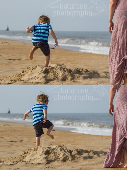 No beach session is complete without some running & jumping in sand piles!