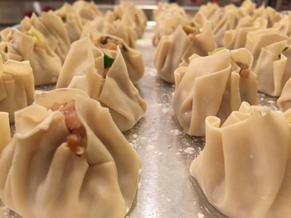 Pork Dumplings ready to be steamed