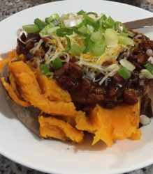 BBQ Chicken Sweet Potato