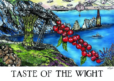 I worked with Taste to create an original illustration for their Spring 2016 launch! Grab a free copy today, or see it online at http://www.tasteofthewight.co.uk/taste_spring_2016/#/54