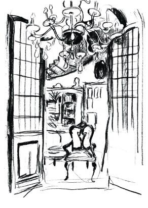 Casa Guidi interior from 'Flush'