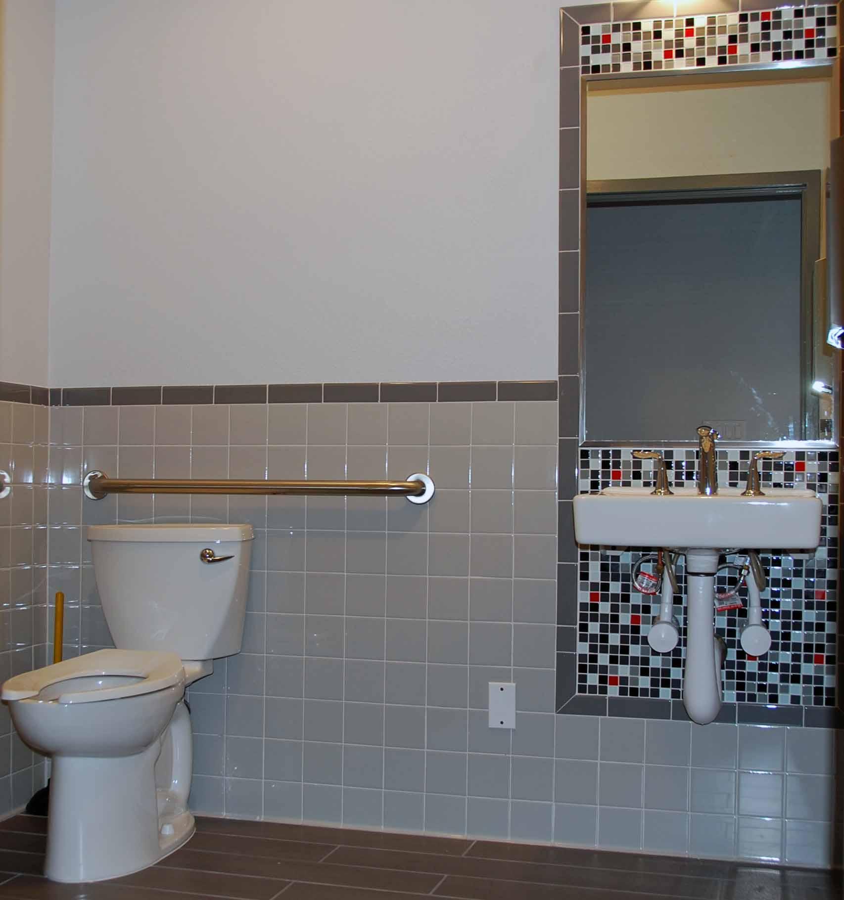 cheap cheerful tile design for an ada