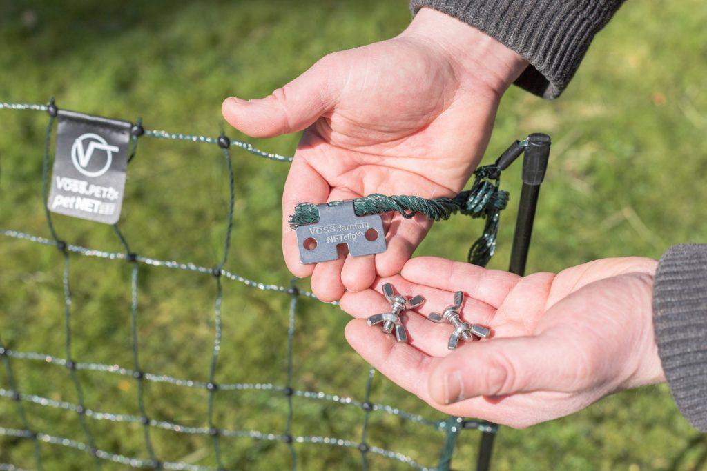 Ein spezieller Clip-Anschluss ermöglicht ein schnelles Verbinden mehrerer Netze.
