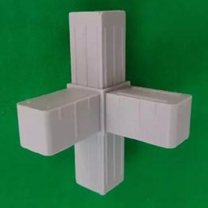 4fach Verbinder T-Verbinder mit Abgang für 20x20x1,5