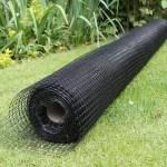 Katzennetz schwarz 1m breit, im Zuschnitt