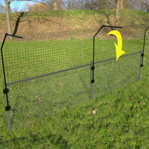 Zaunsicherung Umbauset niedrige Zäune katzensicher machen