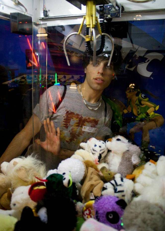 Matt with claw machine