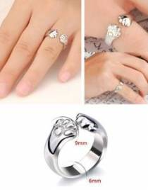925-Sterling-Silver-Cat-Paw-Hug-Ring02-235x300
