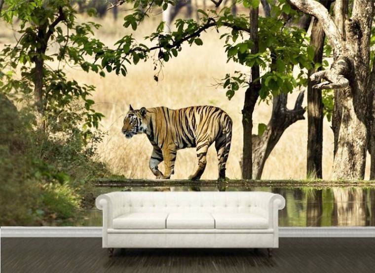 tiger wall murals katzenworld tiger lily wall mural amp tiger lily wallpaper wallsauce