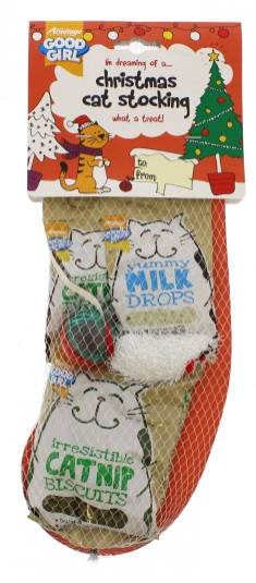 Christmas cat stocking - £1.99