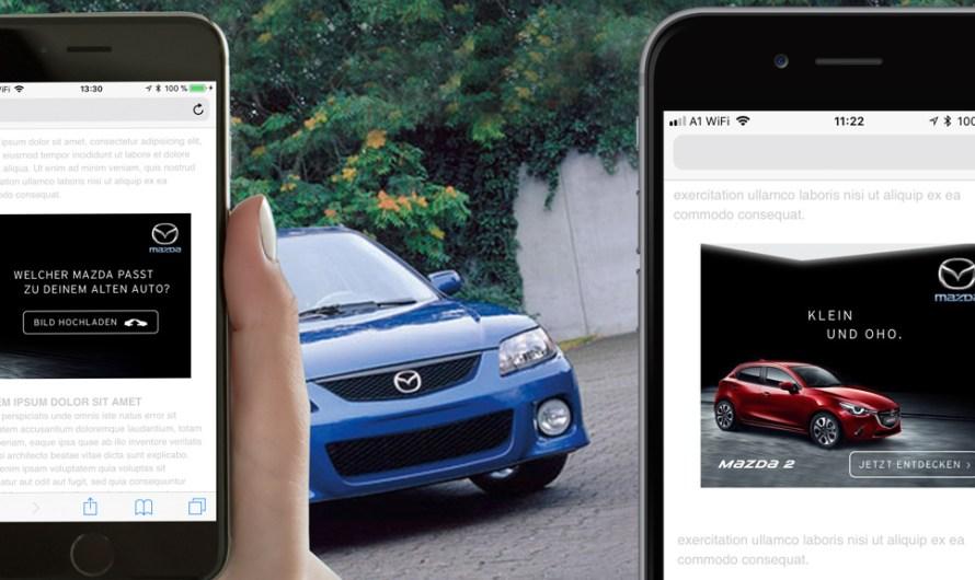TUNNEL23 realisiert mobiles AI Werbemittel mit Bilderkennung für Mazda