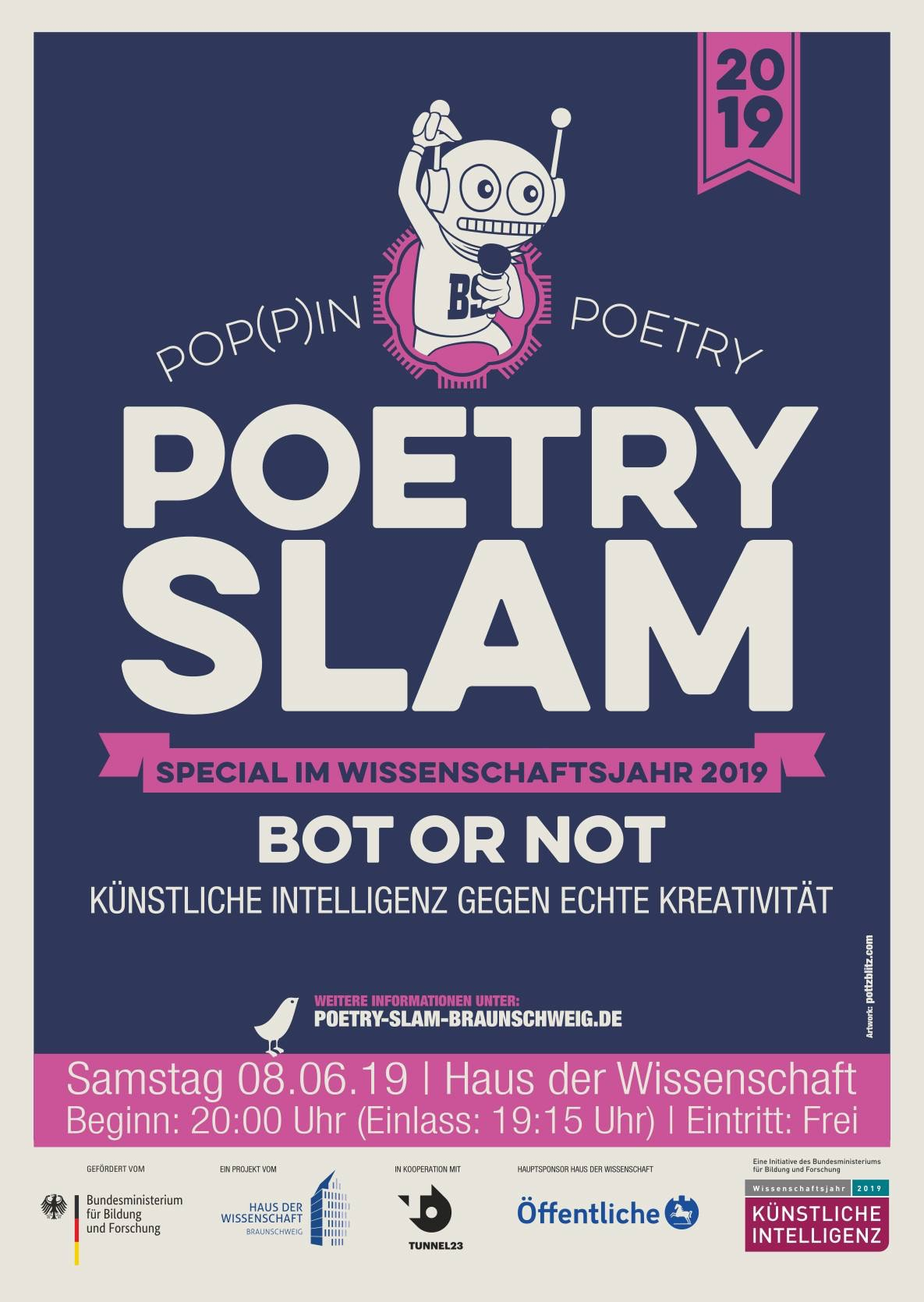 Bot or Not Poetry Slam - KI gegen