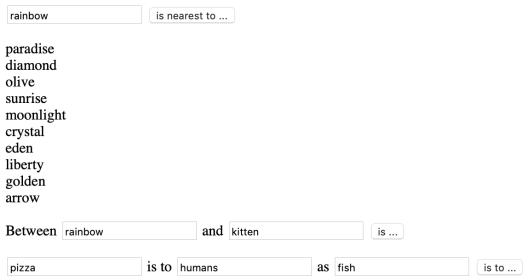 Word2vec Beispiel ausprobieren