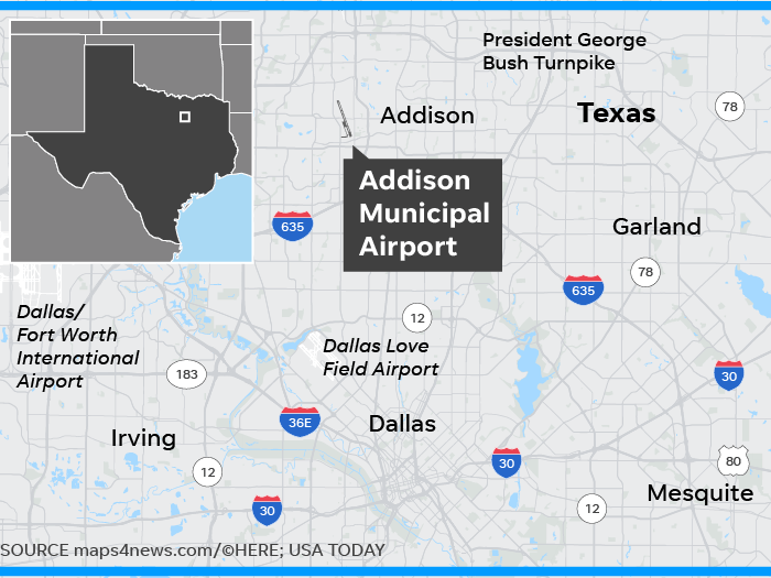 10 Dead in Small Plane Crash at Dallas Area Airport