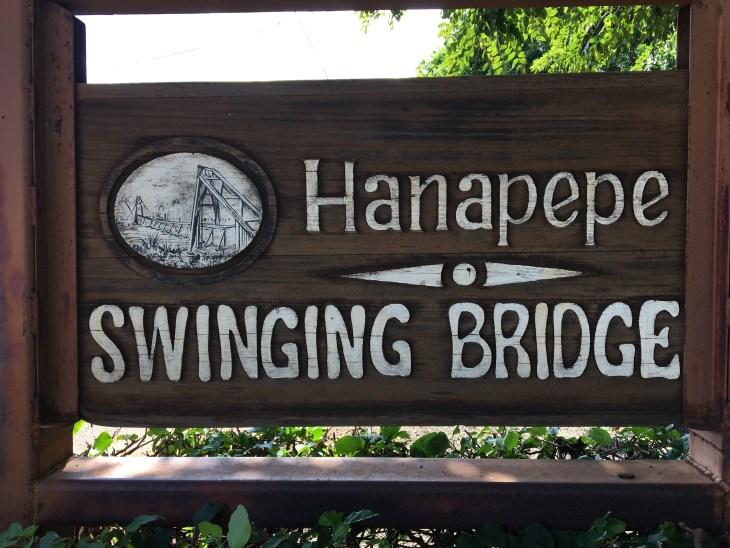 Hanapepe Swinging Bridge Kauai With Keiki