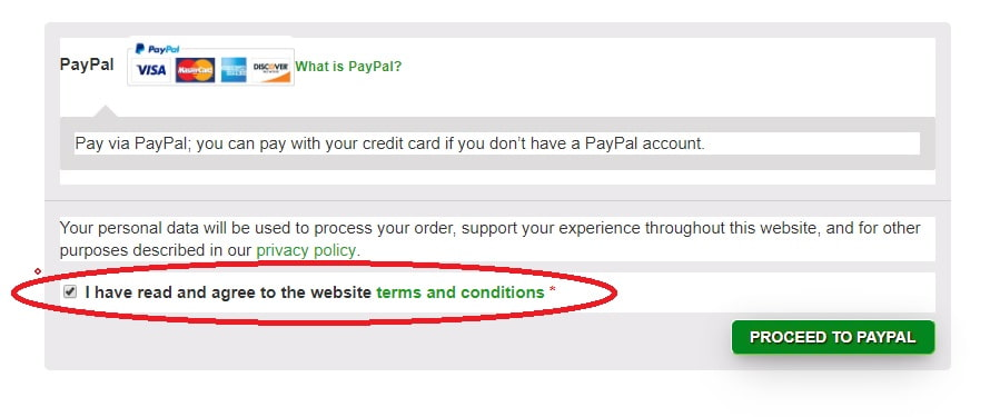 proceed to PayPal