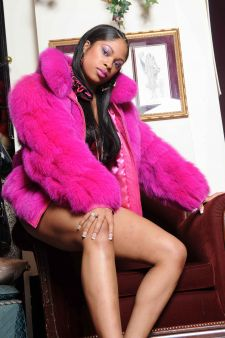 Sexy In Fuchsia Fox Fur Bolero