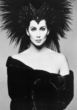 Cher Looking Amazing in Her very own Blackglama Mink Coat