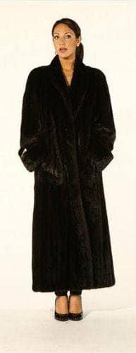 Elegant Classic Full Length Mink Coat Marc Kaufman Furs NYC Fur Store Baltimore Chicago Cleveland Detroit