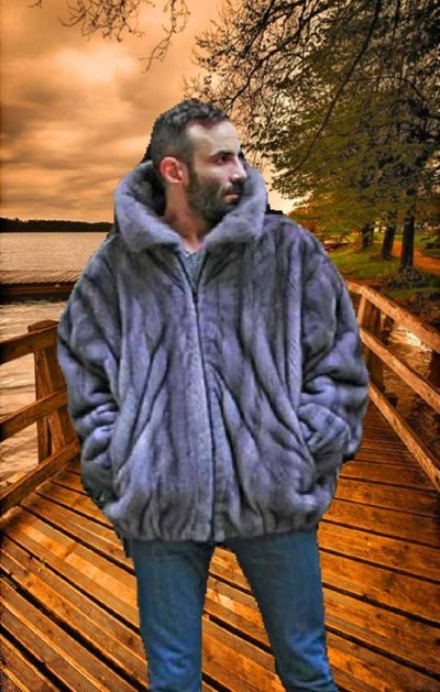 MEN'S MINK BOMBER JACKET