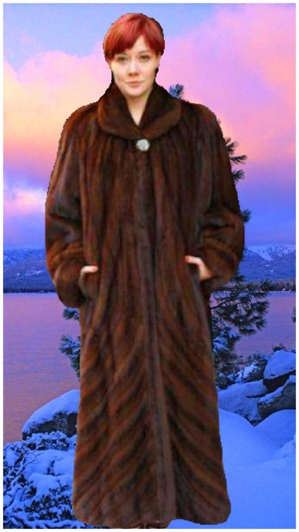 full length mahogany mink for coat