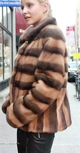 Marc Kaufman Furs Presents a demi whiskey mink fur jacket from Marc Kaufman Furs New York,Argentina,United Kingdom,Austria,Denmark,Norway,Australia,Finland,Saudi Arabia,Oman,Kuwait,Jordan,Egypt
